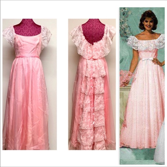 Vintage 70s Prom / Bridesmaid Dress